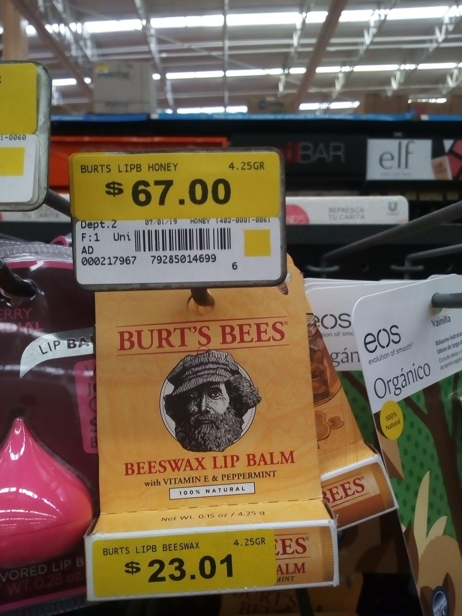 Walmart: Bálsamo labial