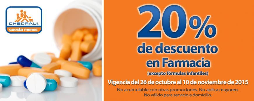 Chedraui: Nuevos Cupones 20% en Farmacia y en Sábanas