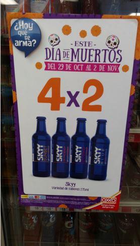 Oxxo: 4x2 en Bebidas Preparadas Skyy y 2x1 chocolates de Carlos V