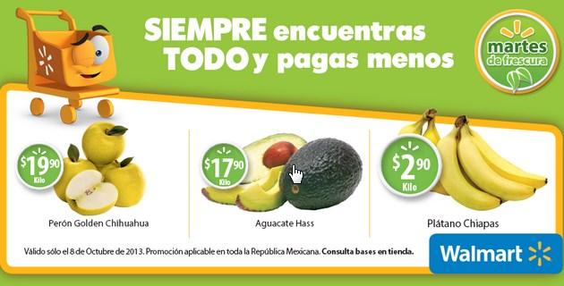 Martes de frescura en Walmart octubre 8: plátano $2.90