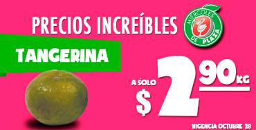 Miércoles de Plaza en La Comer octubre 28: tangerina $2.90 el kilo y más