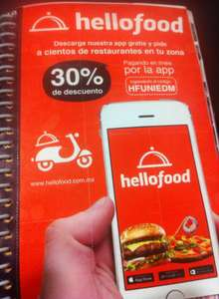 Hellofood: cupón 30% de descuento
