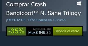 Crash bandicoot N. Sane Trilogy -35% STEAM