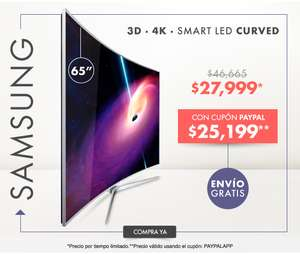 Linio: Televisor Samsung UN65JS9000 4K SUHD Curved 3D Smart Led 65''-Plateado