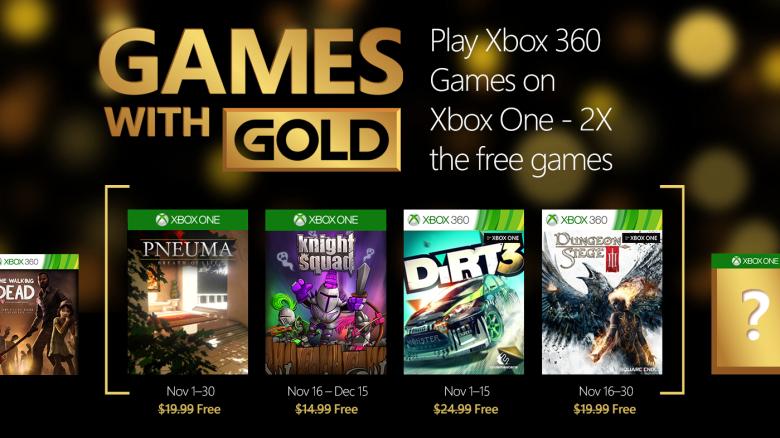 Xbox live, juegos gratis Noviembre games whith gold Xbox 360 y Xbox one