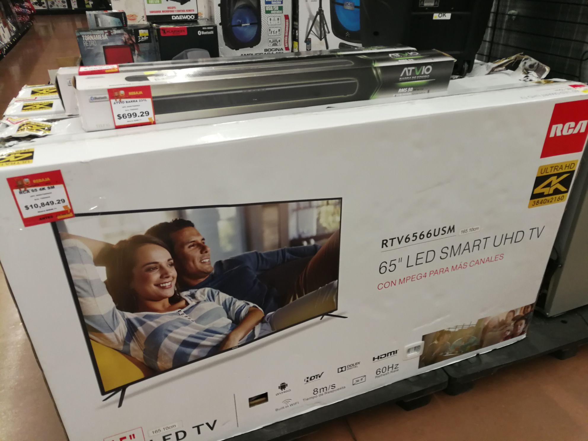 "Walmart La Cima Zapopan: Smart TV RCA 65"" 4K reacondicionada"