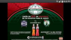 35% DE DESCUENTO BOLETOS NBA SACRAMENTO KINGS VS BOSTON CELTICS DF!!!