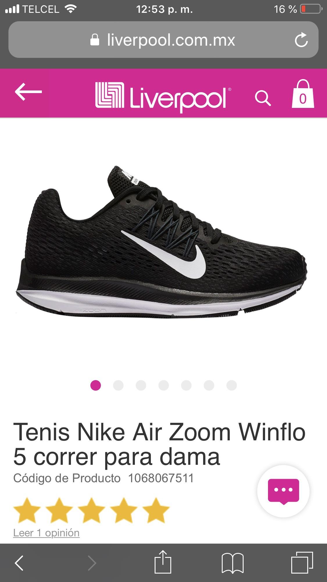 Liverpool: Tenis Nike Air Zoom Dama