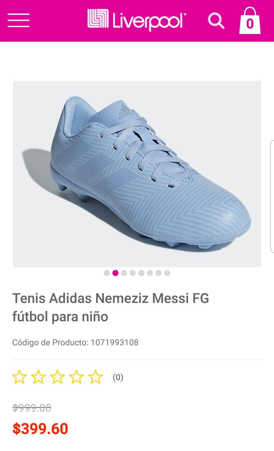 Liverpool: Tenis Adidas Nemeziz FG PARA NIÑO