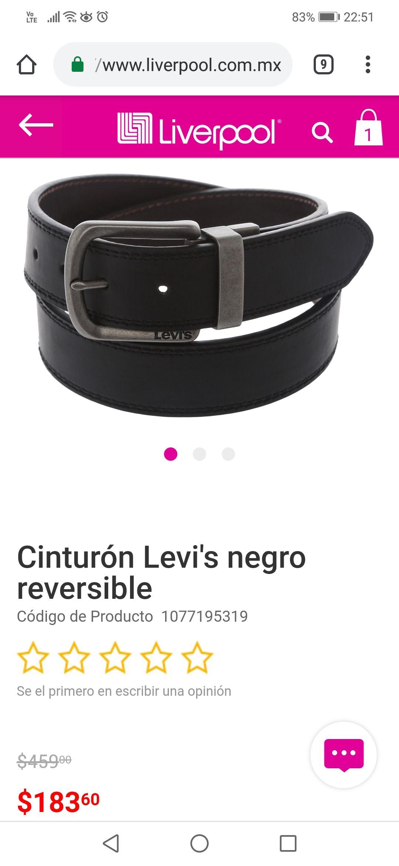Liverpool: Cinturón Levi's talla 36