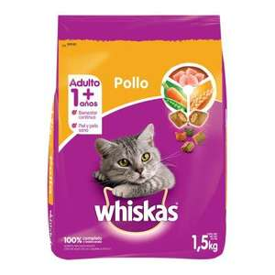 Walmart: Whiskas de 1.5 Kg. de 102 a 21