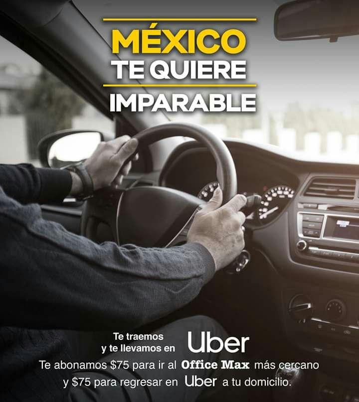 OfficeMax y Uber: Obten un viaje de $75 de ida y $75 de vuelta