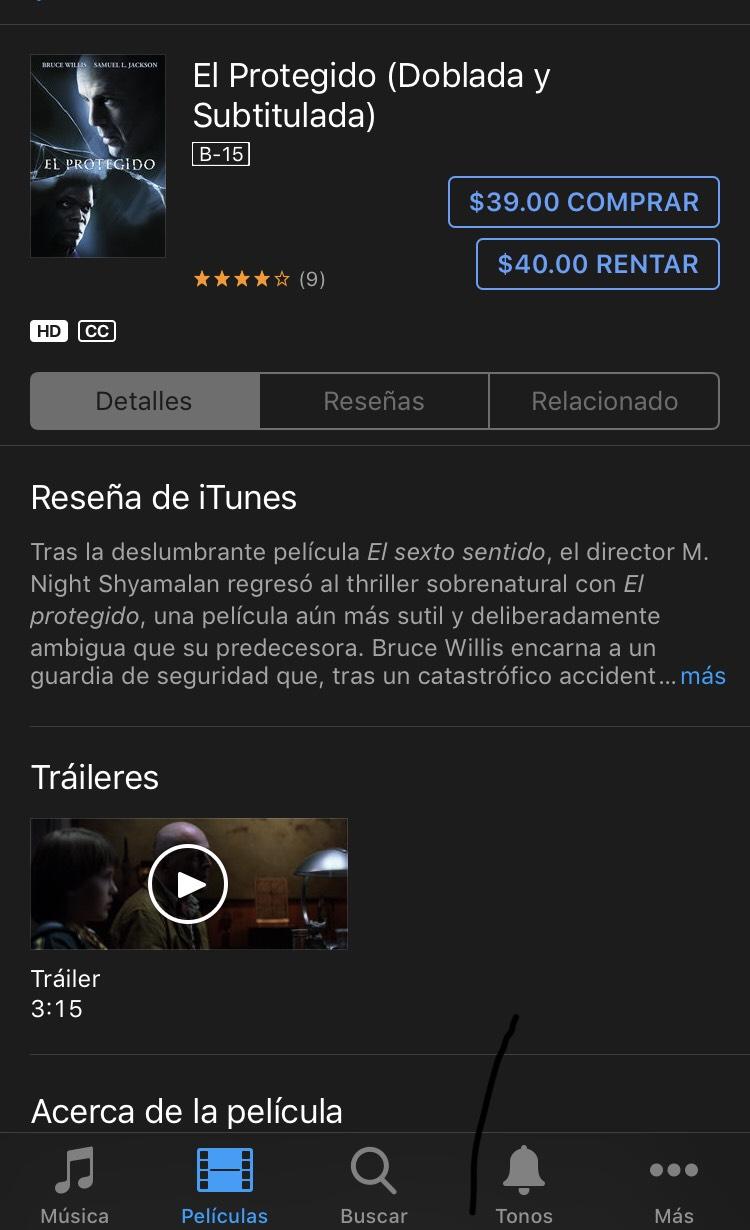 iTunes - El Protegido, película de la semana