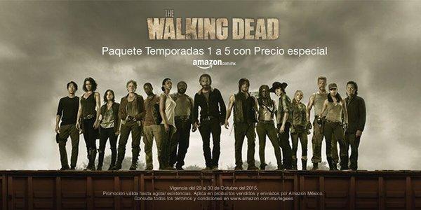 Amazon: The Walking Dead temporadas 1-5 blu-ray $899, DVD $699