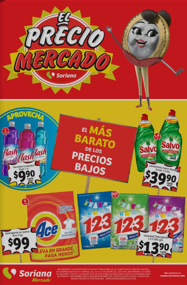 Soriana Mercado y Express: Folleto del Viernes 18 al Jueves 31 de Enero