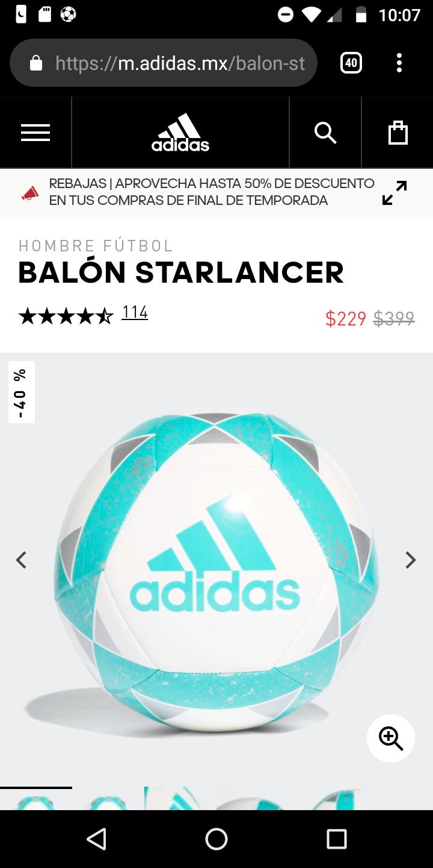 Adidas: Balón starlancer 40% descuento
