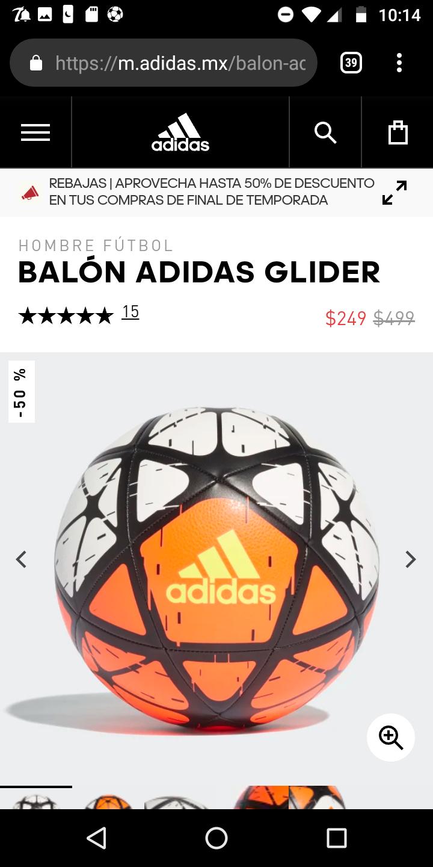 Adidas: Balón glinder 50% descuento