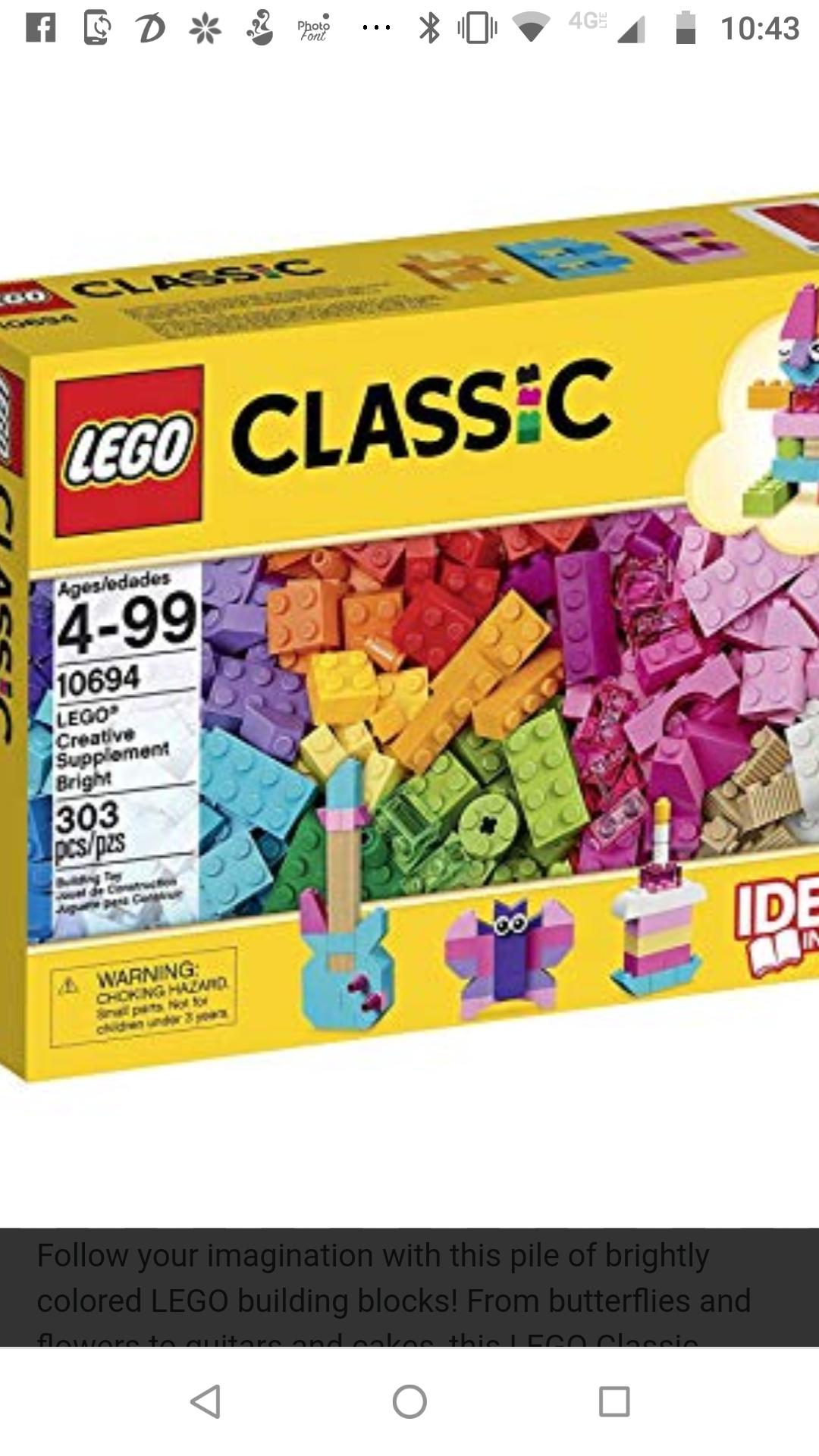 Walmart remate de juguetes LEGO 303pcs