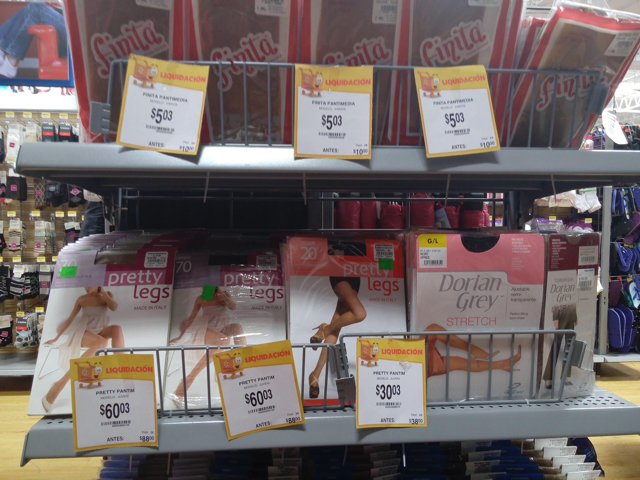 Walmart: pantimedias a solo 5 pesos!