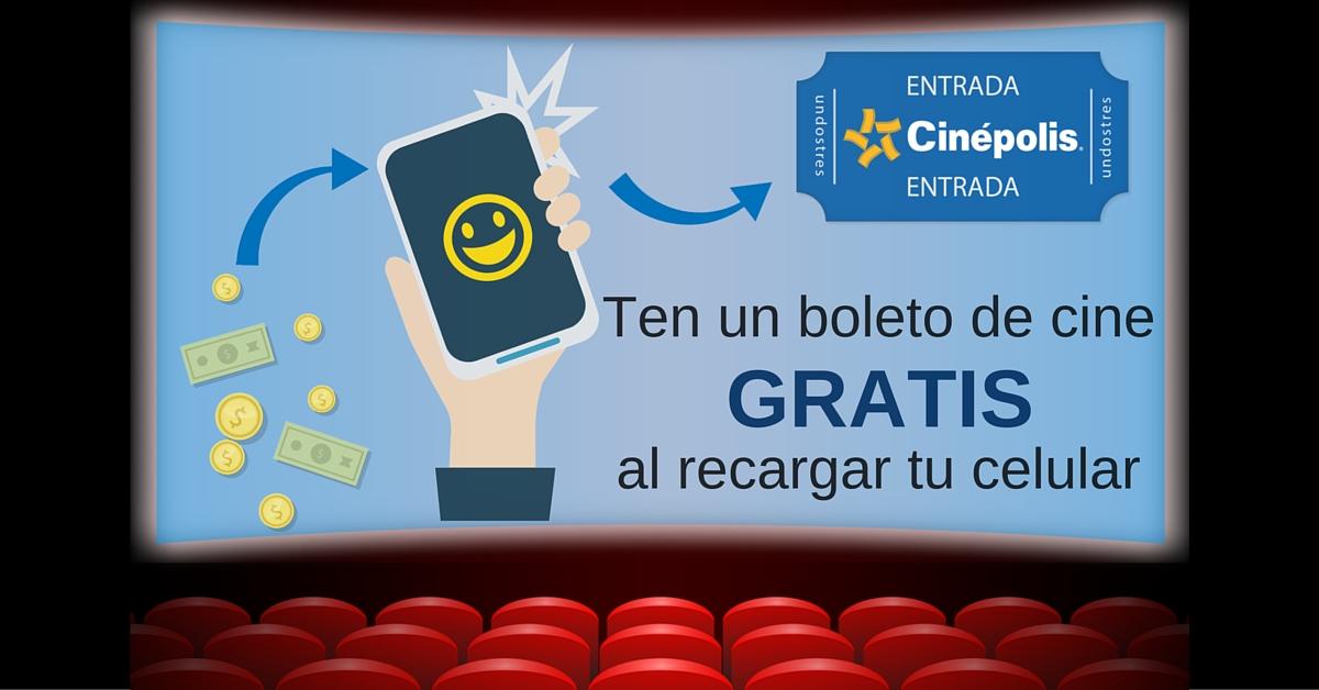 undostres: boleto para Cinépolis haciendo recarga a celular