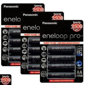 Ebay: 20 Pilas AA Recargables 2500mAh Eneloop