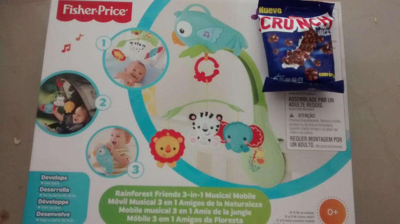 Walmart: juguete bebe $275 y chocolate Crunch $2