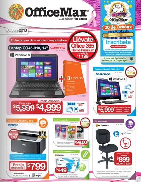 Folleto de ofertas OfficeMax octubre 2013