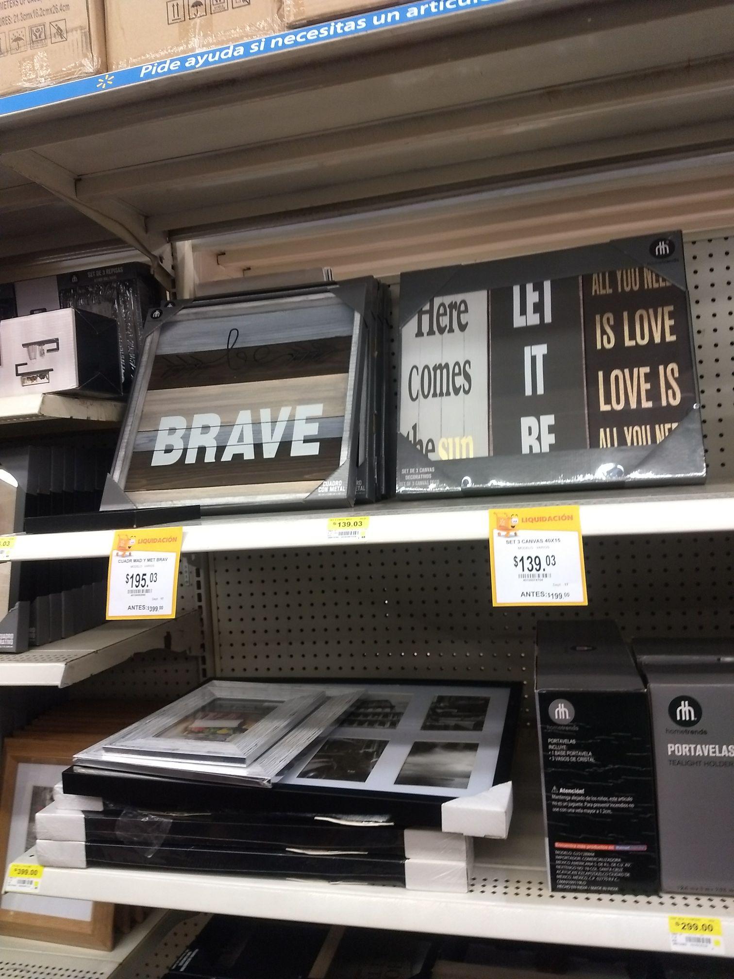 Walmart; Portarretratos en liquidación y cuadros decorativos