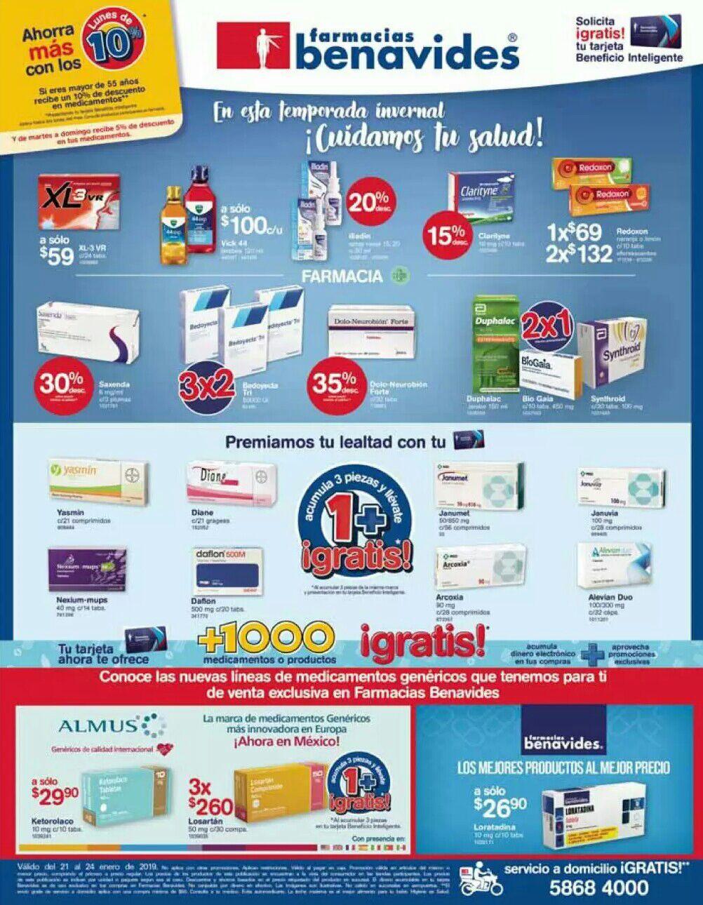 Farmacias Benavides: Ofertas del Lunes 21 al Jueves 24 de Enero