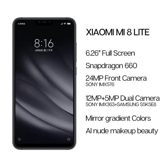 Aliexpress: Xiaomi Mi 8 Lite 4GB 64GB Versión Global