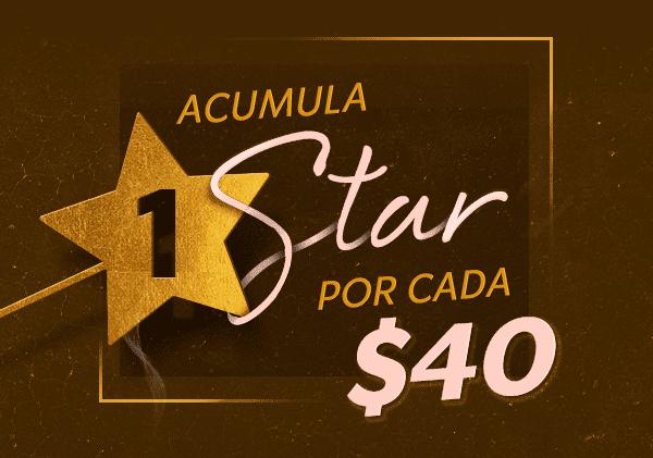 Starbucks: 1 star adicional por cada $40