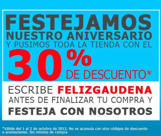 Aniversario Gaudena: 30% de descuento en toda la tienda