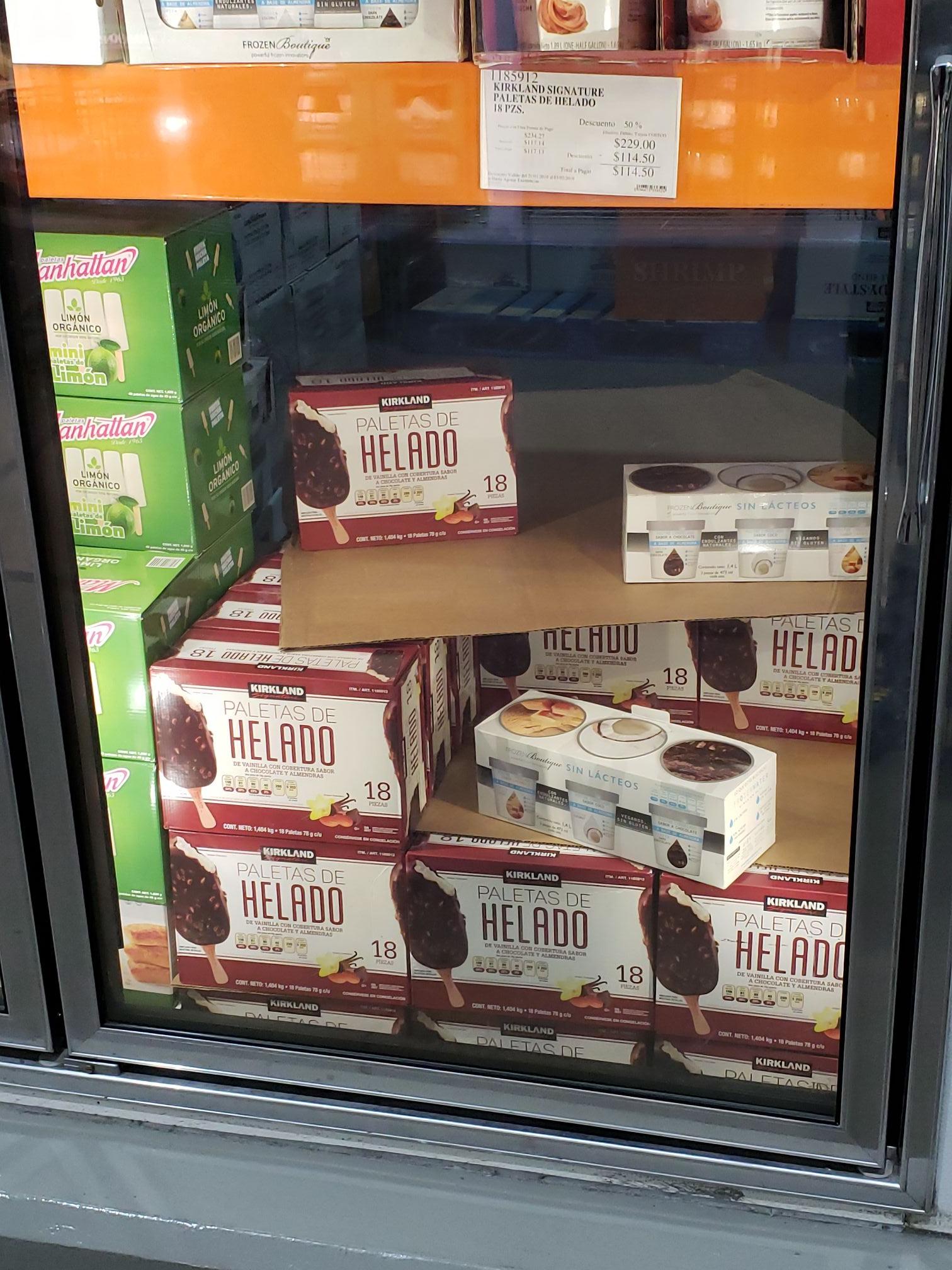 Costco: Paletas de helado Kirkland Signature a mitad de precio.