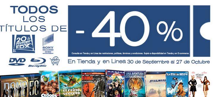 Blockbuster: 40% de descuento en títulos de Sony y 20th Century Fox
