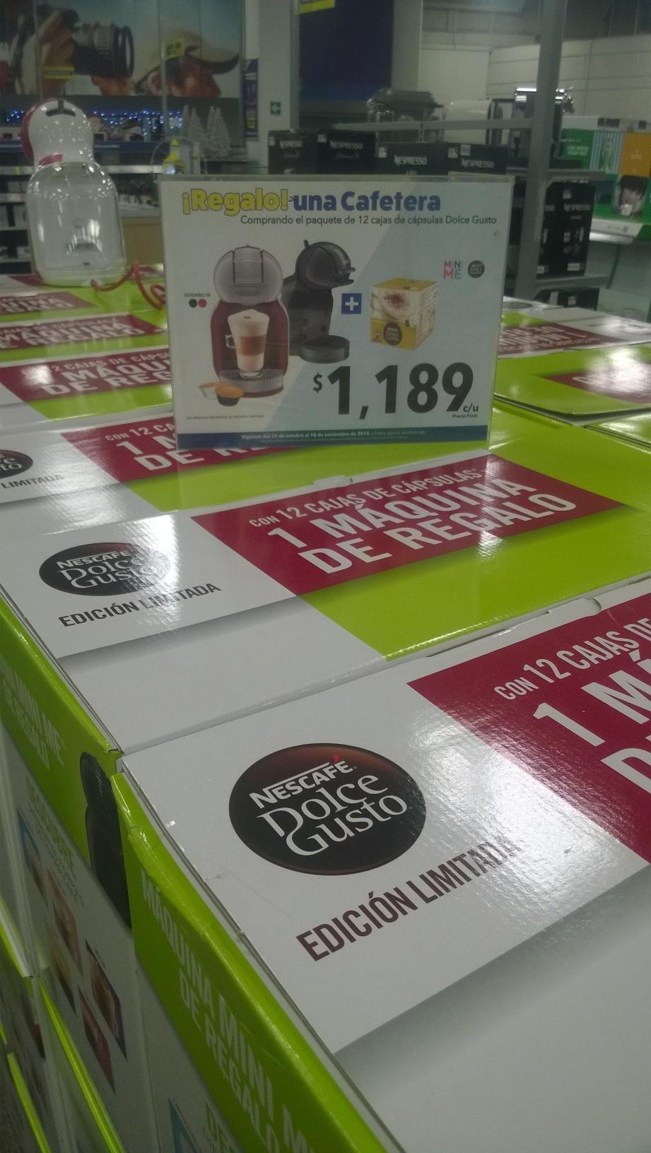 Best Buy: Dolce Gusto Mini me + paquete de 12 cajas de capsulas a $1,189