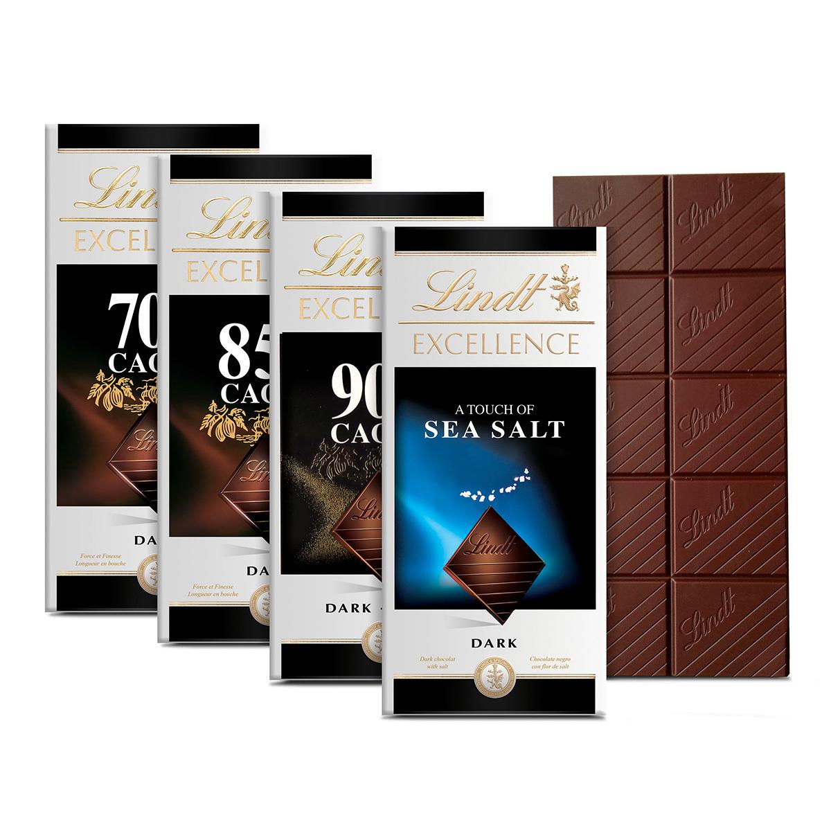 Costco: 4 chocolates lindt excellence de 100gr por $279