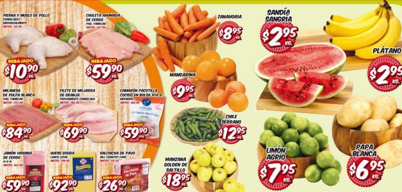 Frutas y verduras HEB del 1 al 3 de octubre: plátano y sandía $2.95 y más