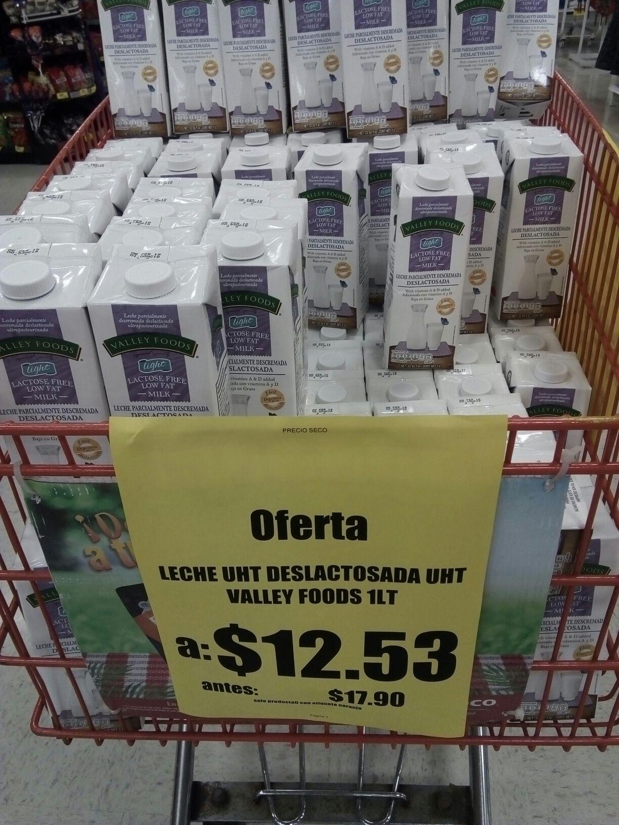 Soriana: Oferta Leche Valley Foods Deslactosada