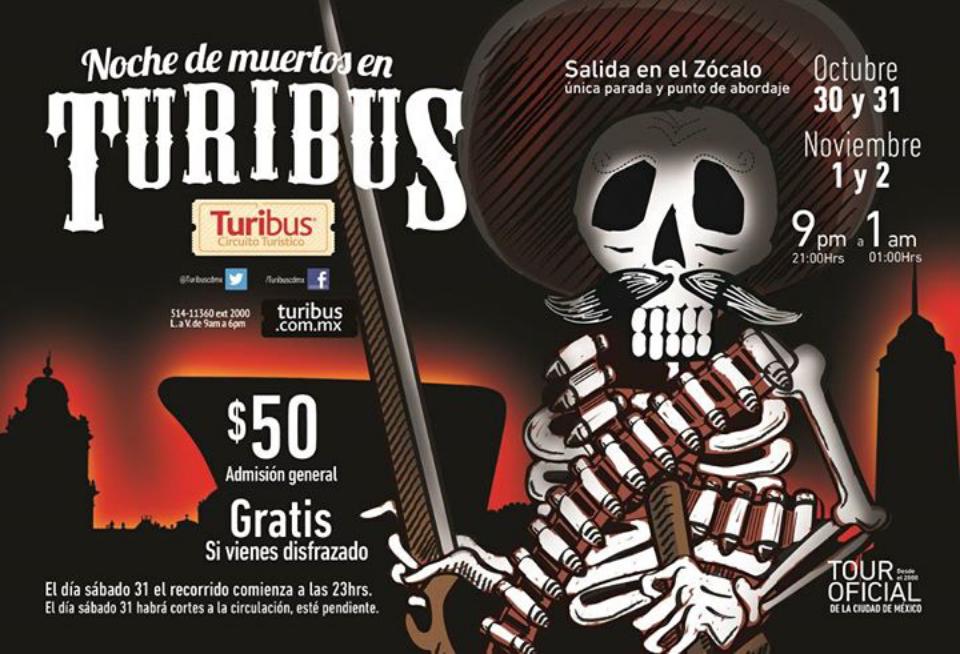 Turibus DF: Gratis si vas disfrazado este 1 y 2 de noviembre.