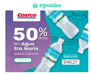 Mercadoni: Agua Sta Maria: 30 Botellas de 500 ml x $40