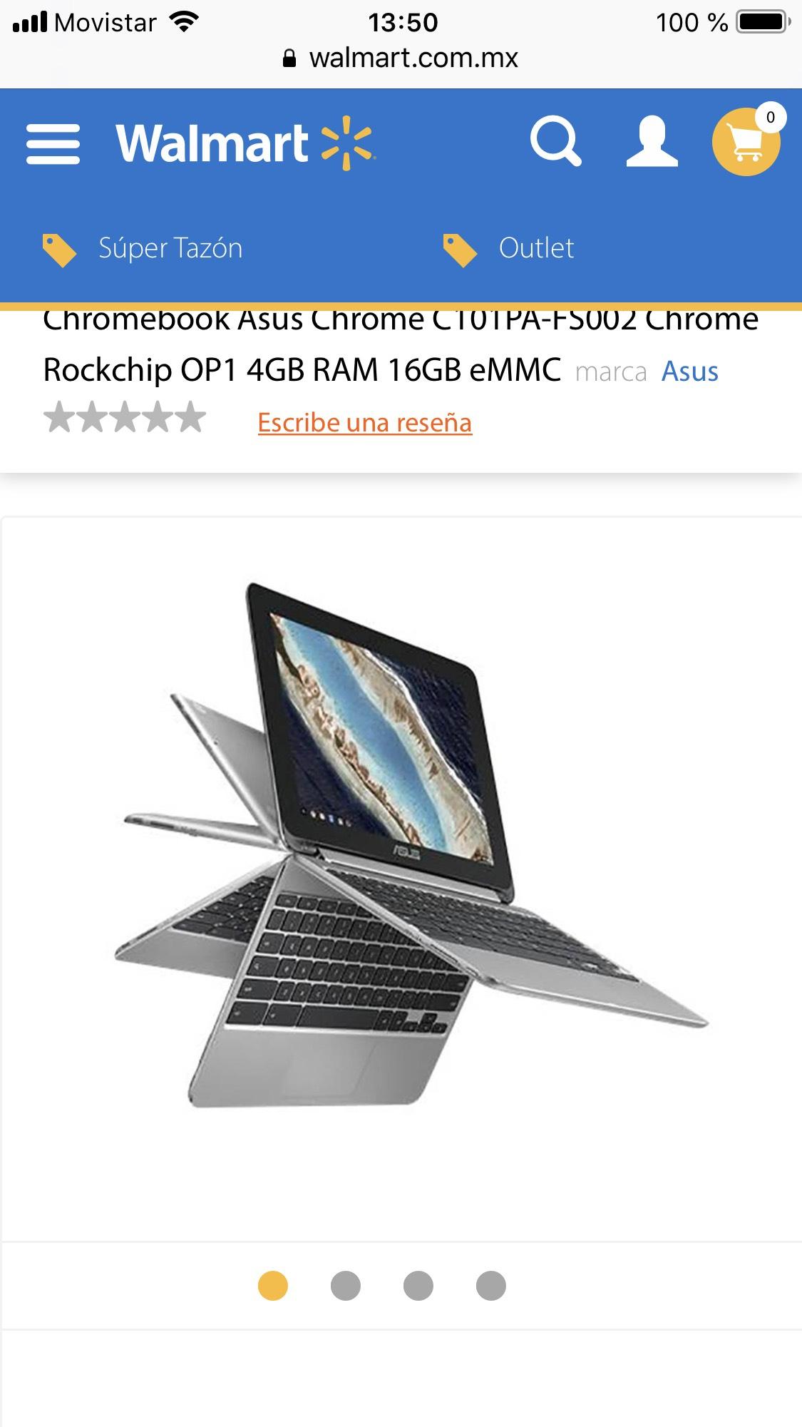 Walmart: Chromebook Asus Chrome C101PA-FS002