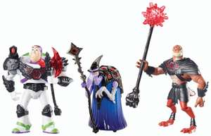 AMAZON: Disney Toy Story That Time Forgot Battleopolis (Paquete de 3 figuras) $120