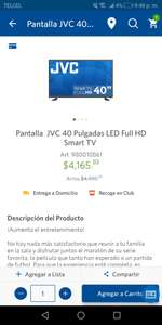 Sam's Club: Pantalla smart JVC 40''