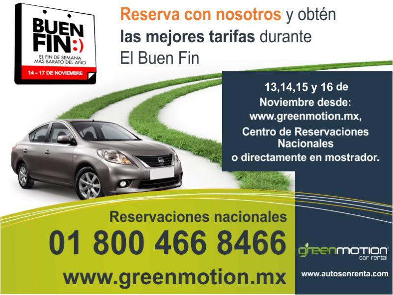 Promociones del Buen Fin 2015 en Green Motion Car Rental
