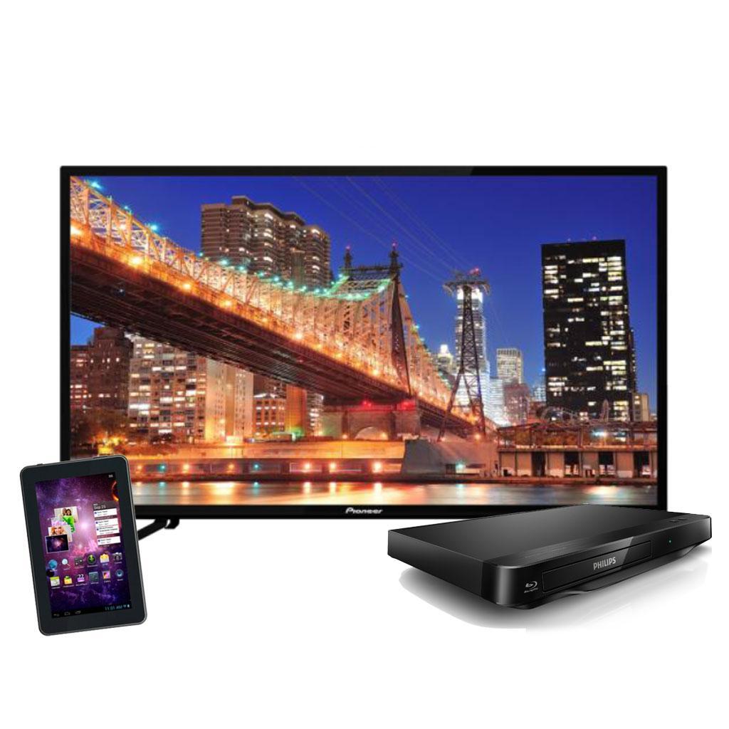"""Famsa: TV Pioneer UDH 4K 55"""" + Tablet 7"""" (Genérica) Y Bluray Phillips $10,999"""