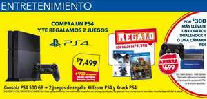 Best Buy: PS4 + 3 juegos y 2 controles $7,799 con Banamex