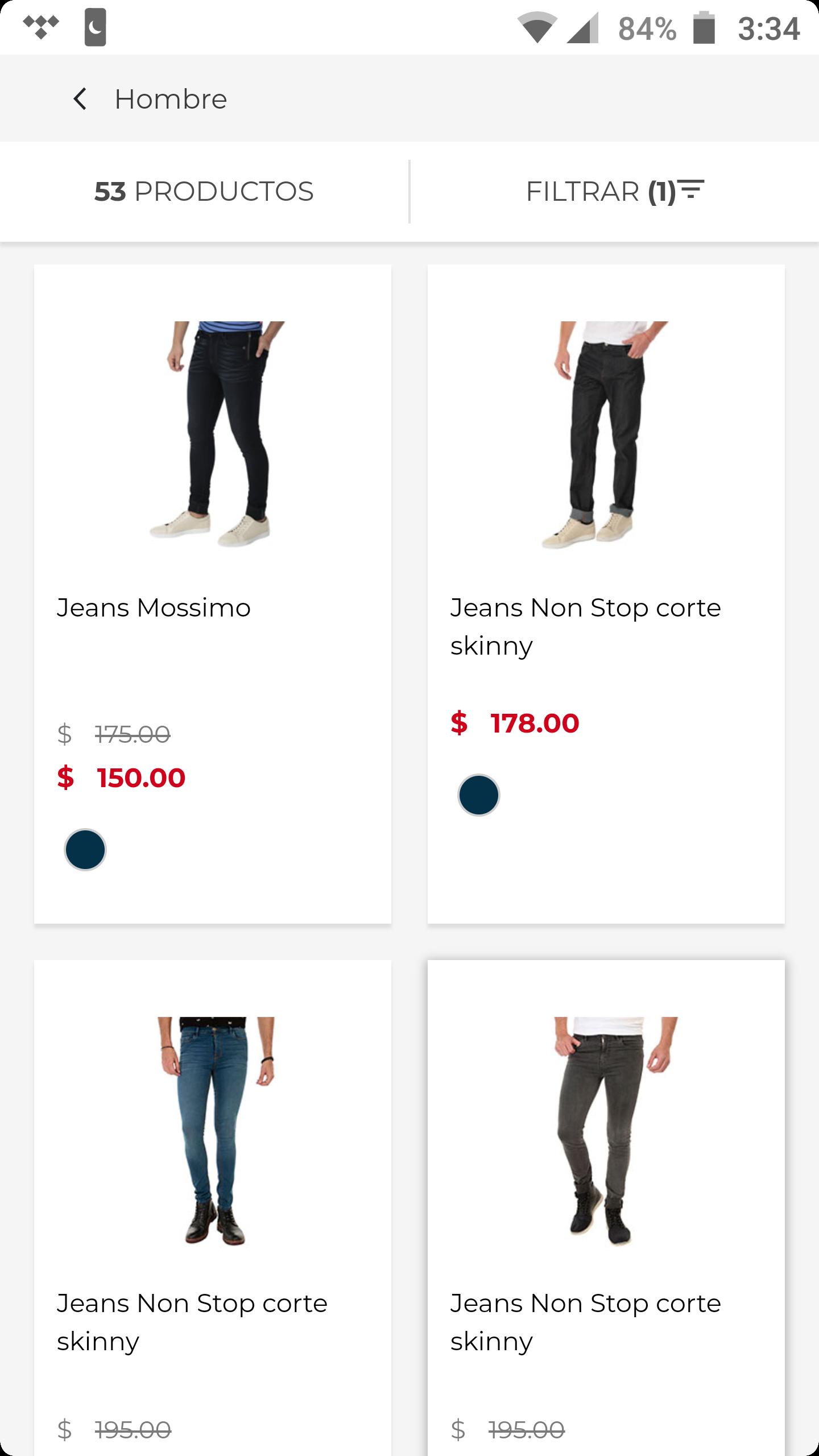 Suburbia: Jeans para caballero desde $150