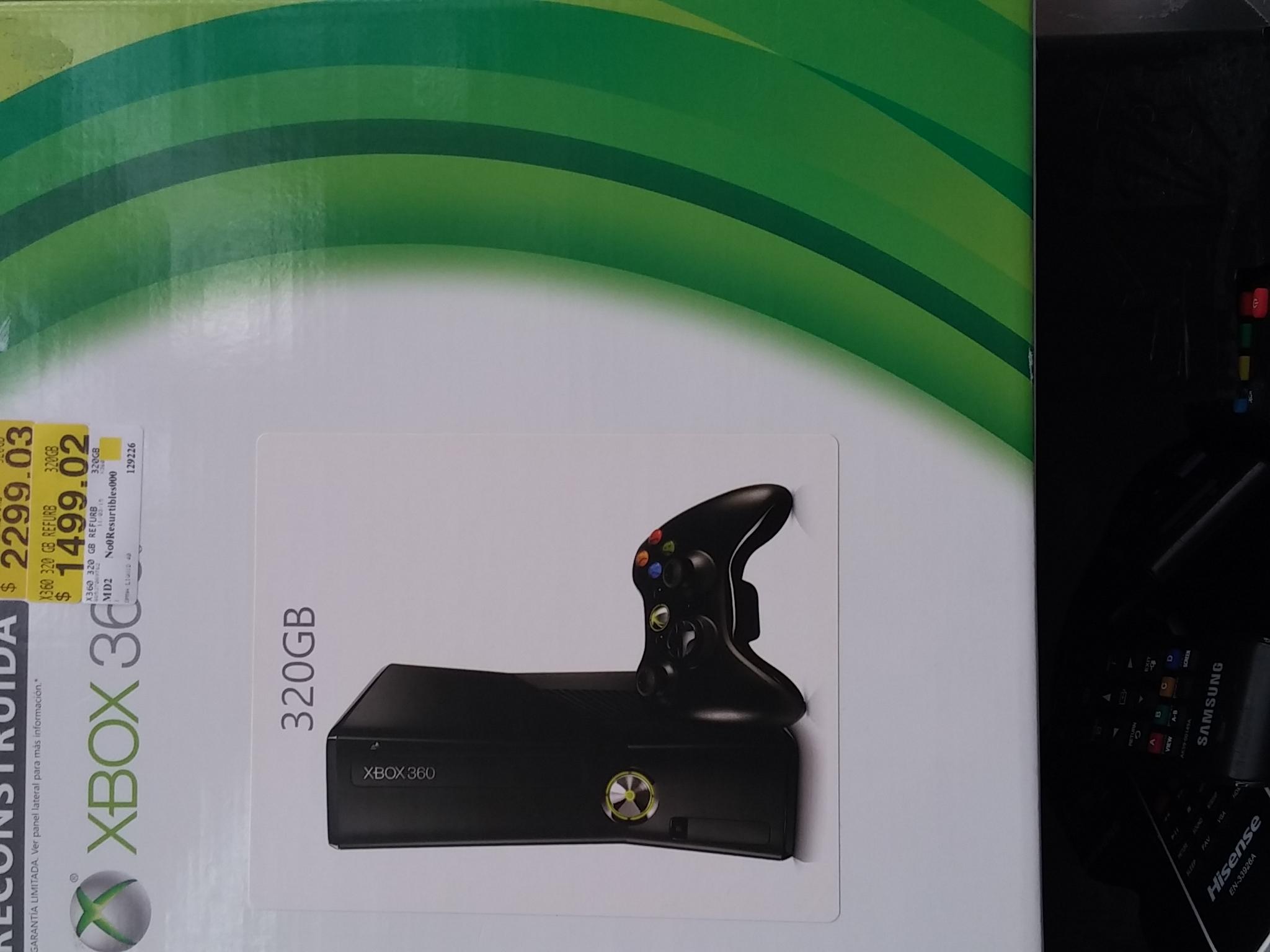 Walmart Félix Cuevas: Xbox 360 refurbished 320GB en $1,499.02