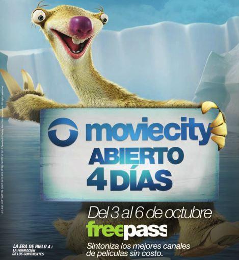 Canales Moviecity gratis del 3 al 6 de octubre