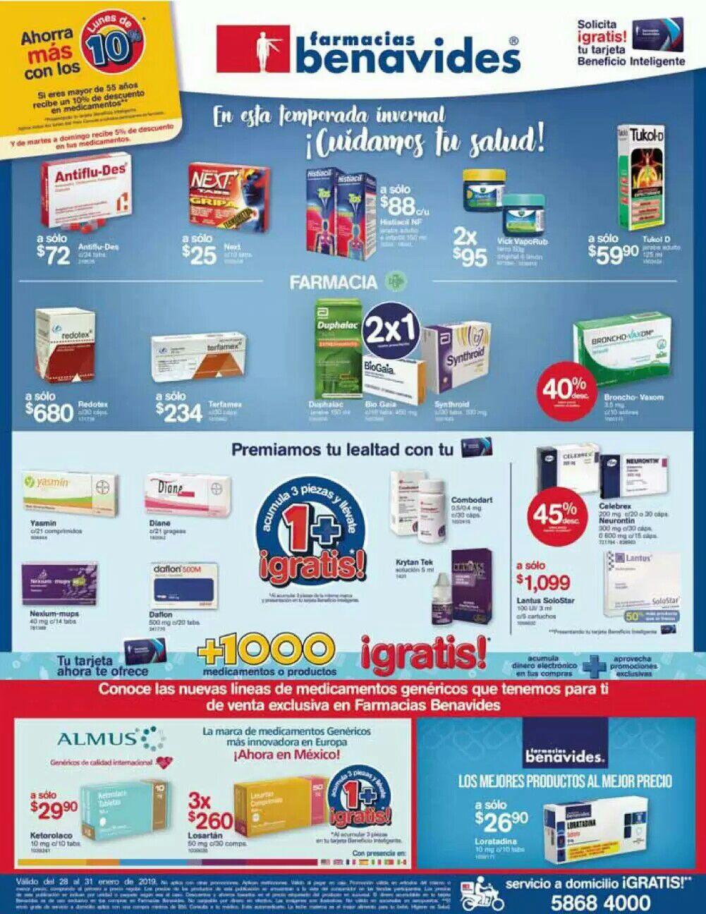 Farmacias Benavides: Ofertas del Lunes 28 al Jueves 31 de Enero